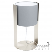 Настольная лампа Eglo Siponto 98286 хай-тек, модерн, сталь, текстиль, матовый никель, серый