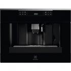 Встраиваемая автоматическая кофемашина Electrolux KBC 65 X черное стекло/нерж. сталь
