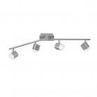 Спот LED на четыре лампы с поворотными рычагами Reality Lights Roubaix R82154107 Никель Матовый