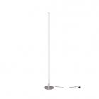 Торшер LED, столб Reality Lights Smaragd R45010107 Никель Матовый, Белый Пластик