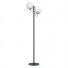 Торшер Eglo Sabalete 98366 хай-тек, модерн, сталь, матовое стекло, черный, белый