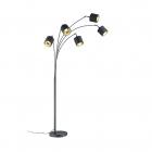 Торшер на пять ламп Reality Lights Tommy R46330579 Черный Матовый, Черная Ткань