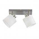 Спот на две лампы Reality Lights Tommy R80332001 Никель Матовый, Белая ткань