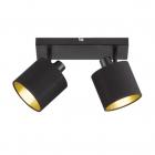 Спот на две лампы Reality Lights Tommy R80332079 Черный Матовый, Черная ткань