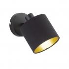 Спот Reality Lights Tommy R80331079 Черный Матовый, Черная ткань
