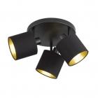 Спот на три лампы Reality Lights Tommy R80333979 Черный Матовый, Черная ткань
