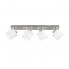 Спот на четыре лампы Reality Lights Tommy R80334001 Никель Матовый, Белая ткань