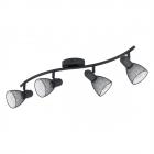 Светильник потолочный спот Eglo Carovigno 98623 лофт, сталь, черный