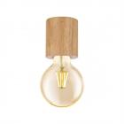 Светильник точечный накладной Eglo Turialdo 99077 кантри, прованс, дерево, коричневый