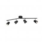 Светильник-спот на 4 точки с поворотными консолями Reality Lights Toulouse R82124132 Черный Мат