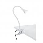 Настольная лампа на прищепке с гибкой ножкой Reality Lights Viper R22398101 Белый Пластик
