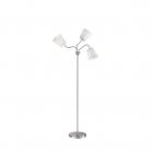 Торшер с гибкой арматурой, три лампы Reality Lights Windu R40153001 Никель Матовый, Белые Абажуры
