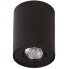 Точечный светильник накладной Maxlight Basic Round C0068 хай-тек, черный, металл