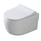 Подвесной безободковый унитаз с сидением дюропласт softclose Dusel Vortex DWHT10201230R белый