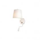 Настенный светильник бра с абажуром и лампой для чтения Maxlight Chicago W0196 неоклассика, белый, текстиль, металл