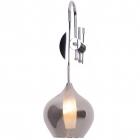 Настенный светильник бра Maxlight City W0249 модерн, дымчатый, хром, стекло, металл