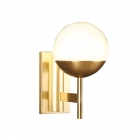 Настенный светильник бра Maxlight Dallas W0207 модерн, белый, золото, стекло, металл