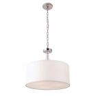 Люстра подвесная Maxlight Elegance P0060 классика, белый, хром, прозрачный, текстиль, металл, пластик