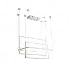 Люстра подвесная Maxlight Geometric P0302D авангард, металл, пластик, белый, диммер