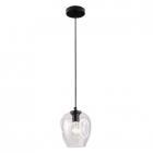 Люстра подвесная Maxlight Spirit P0288 модерн, прозрачный, черный, стекло, металл