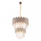 Люстра подвесная Maxlight Vogue P0283 модерн, прозрачный, стекло, золото, стекло, металл