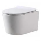 Подвесной безободковый унитаз с сидением дюропласт softclose slim Dusel Arez DWHT10210230R белый