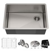 Кухонная мойка c аксессуарами Kraus Standart PRO KHU110-27 нержавеющая сталь
