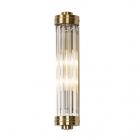 Настенный светильник Maxlight Florence W0240 модерн, прозрачный, латунь, стекло, металл