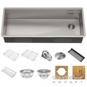 Кухонная мойка c аксессуарами Kraus Kore KWU120-45 нержавеющая сталь