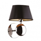 Настенный светильник Maxlight Napoleon W0120 классика, черный, хром, золотой, текстиль, металл