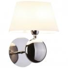 Настенный светильник влагостойкий Maxlight Napoleon W0121 классика, белый, хром, текстиль, металл