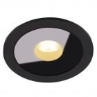 Точечный светильник встраиваемый влагостойкий Maxlight Plazma H0088 хай-тек, металл, черный, стекло
