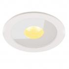 Точечный светильник встраиваемый влагостойкий Maxlight Plazma H0089 хай-тек, металл, белый, стекло