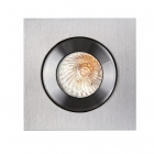 Точечный светильник встраиваемый влагостойкий Maxlight Shower H0004 хай-тек, алюминий, серый