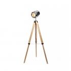 Торшер прожектор Maxlight Foto F0032 хром, натуральный, металл, дерево, регулируемый