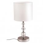Настольная лампа Maxlight Elegance T0031 классика, хром, белый, текстиль, металл, прозрачный