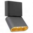 Точечный светильник накладной Maxlight Marvel C0150 хай-тек, черный, металл, золото