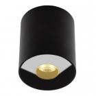 Точечный светильник накладной Maxlight Pet Round C0151 хай-тек, черный, металл, стекло