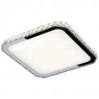 Светильник потолочный Maxlight Prezzio Square C0118 белый, прозрачный, хром, металл, стекло