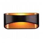 Светильник настенный Maxlight Hugo W0054 хай-тек, алюминий, черный, золото