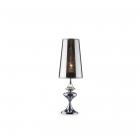 Настольная лампа Ideal Lux Alfiere 032467 арт-деко, хром, прозрачный, полупрозрачный, хром