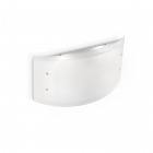 Настенный светильник бра Ideal Lux Ali 026565 современный, белый, хром, окисленное стекло, металл