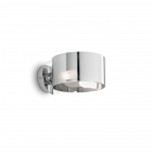 Настенный светильник бра Ideal Lux Anello 028323 современный, хром, окисленное стекло, металл