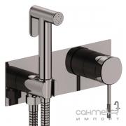 Гигиенический душ с смесителем скрытого монтажа Imprese Brenta ZMK091908122 графитовый хром