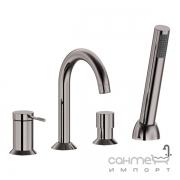 Смеситель для ванны на четыре отверстия Imprese Brenta ZMK091908050 графитовый хром