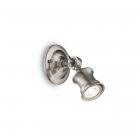 Светильник настенный спот Ideal Lux Barber 160016 винтаж, никель, металл