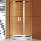 Полукруглая душевая кабина с поддоном Asignatura Esla 79025800 профиль хром/прозрачное стекло