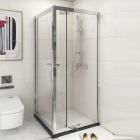Квадратная душевая кабина Asignatura Tinto 49020709 профиль сатин/прозрачное стекло