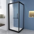 Квадратная душевая кабина Asignatura Tinto 49020702 профиль черный матовый/прозрачное стекло
