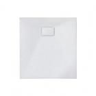 Квадратный душевой поддон из искусственного камня Asignatura Tinto 49837004 белый матовый
